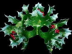 A mask of The Holly King who rules the Dark Half of the year.