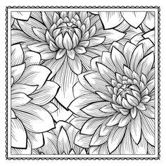 Flower Coloring Page 79 | Flowers | Pinterest | Flower colors ...