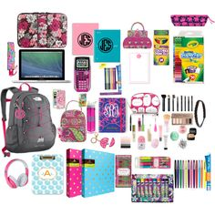"""What's In My Backpack 2014-2015"" by jennyspark on Polyvore"