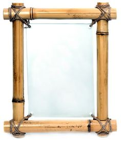 Bamboo picture frame provides a natural looking bamboo frame for your picture or photo Bamboo Furniture, Diy Furniture, Furniture Cleaning, Furniture Stores, Bathroom Furniture, Bamboo Picture Frames, Bamboo Art, Bamboo Ideas, Bamboo Mirror