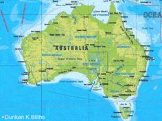 Australia se moverá 1.8 metros hacia el norte a partir del primero de enero de 2017