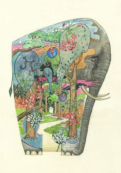 Forest Elephant - Print | Animal Cards and Prints & Screen prints | The DM Collection