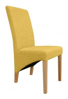 Henley Ochre Fabric Dining Chair - www.roncampion.co.uk