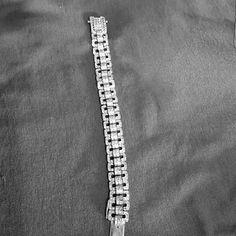 Sterling silver diamond braclet Men's of womans depending on wrist Jewelry Bracelets
