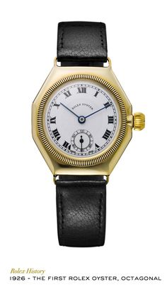"""0e80efe8 In 1926, Rolex created the first waterproof and dustproof wristwatch. Given  the name """""""