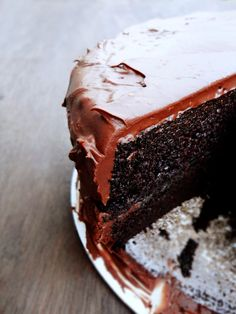"Chocolate Buttermilk Cake: Offer from the self-proclaimed ""pickiest chocolate cake connoisseur."""