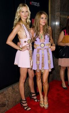 Anna Dello Russo and Karolina Kurkova Fashion Night Out Macys New York City Sept 2011