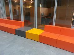 Trinity's modular furniture design in EPS (expanded polystyrene) + Hardcoat, for Indoor and Outdoor use.