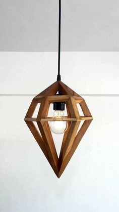Diamond Pendant Lighting / Ceiling Pendant Light Made from Pallet wood – Hanging Lamp with fixtures - All About Decoration