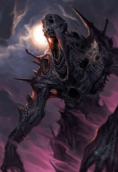 Monster Concept Art, Fantasy Monster, Monster Art, Dark Creatures, Mythical Creatures Art, Fantasy Creatures, Dark Fantasy Art, Fantasy Artwork, Castlevania