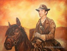 Hand-painted Figure Oil Painting - Western Cowboy