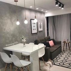 Home Decoration Living Room Small Apartment Interior, Condo Interior, Small Apartment Living, Home Interior Design, Small Living Rooms, Small Living Dining, Cute Apartment Decor, Narrow Rooms, Small Apartment Design