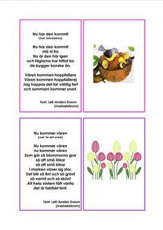 Mariaslekrum Learn Swedish, Swedish Language, Preschool, Learning, Words, Pdf, Danish Language, Musik, Botany
