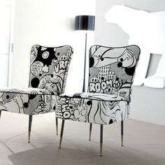 Comic book chairs. these would never ever work for my 4 yr old's room, but I'm…