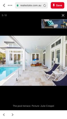 The Hamptons, Terrace, Swimming Pools, Outdoor Decor, Pictures, Home Decor, Balcony, Swiming Pool, Photos
