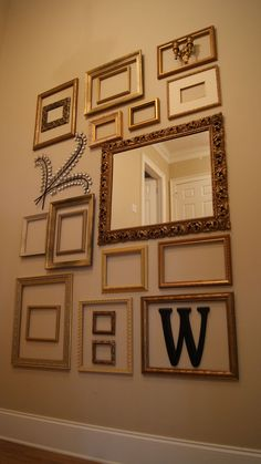 Collage Wall Frames picture frame collage wall turned out so cute! | decorations