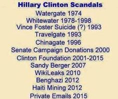 Hillary has lots of scandals , vote Trump   America First