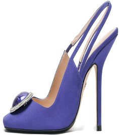 Emilio Pucci Purple Bejeweled Slingback Sandals Sprning Summer 2013 #Shoes #HighHeels