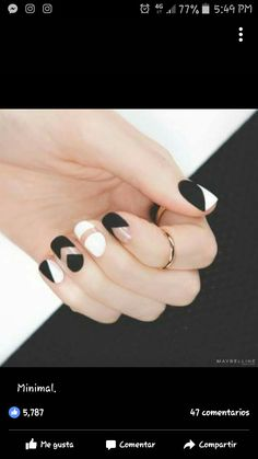 Nail black and white
