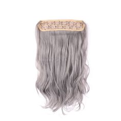 Ombre Hair Synthetic Invisible Flip In Extensions 20 Inch Natural Wavy Light Black Purple To Powdery Violet FHhair Fantasyhair Flipinhair