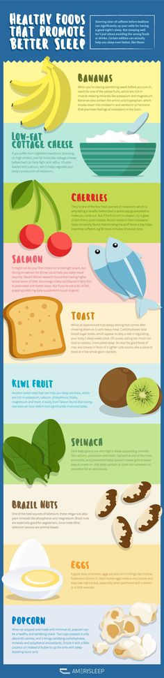 10 Healthy Foods That May Help You Sleep Better (Infographic) Looking to sleep better longer? Desperate for a cure for insomnia? Avoid caffeine six hours before your bedtime. Do your body good and sip a warm cup of milk instead, like the old wive's tale Healthy Sleep, Get Healthy, Healthy Tips, Healthy Recipes, Healthy Foods, Healthy Habits, Going To Bed Hungry, Natural Sleep Remedies, Insomnia Remedies