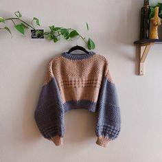 Kawaii Crochet, Knit Crochet, Crochet Clothes, Diy Clothes, Waffle Stitch, Seed Stitch, Sweater Knitting Patterns, Crochet Fashion, Crochet Designs