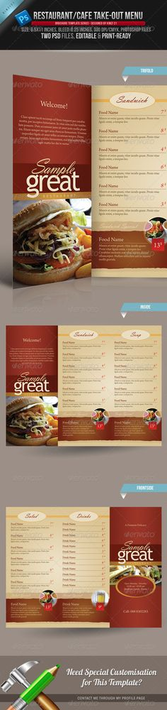 25 High Quality Restaurant Menu Design Templates Menu, Food menu - restaurant menu design templates