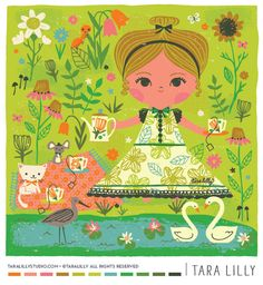 Art and Illustration based out of the Pacific Northwest. Lilla Rogers, Cute Illustration, Art Illustrations, Cute Little Girls, Estilo Retro, Kids Playing, Book Art, Print Patterns, Drawings