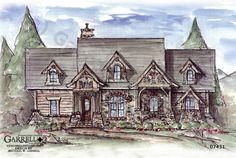 Garrell Associates, Inc. Creek Falls Cottage House Plan 07431, Design by Michael W. Garrell