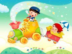 Vector Cartoon Child Wallpaper Album #8 - 1600x1200