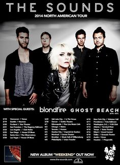 NEWS: The indie-rock band, The Sounds, have announced a North American tour, that'll take place in the spring, with Blondfire and Ghost Beach. You can check out the dates and details at http://digtb.us/thesoundstour