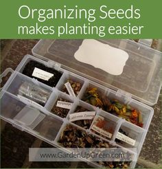 Organizng Seeds Makes Planting Easier