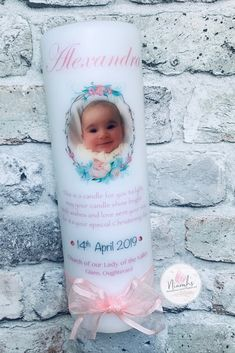 Cute personalised Christening Candle / Irish christening / Naming Day / Baptism / custom candle / baby candle / Gaeilge / Galway