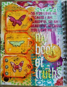 an art journal page, mixed media used, www.justaboutthedetails.com