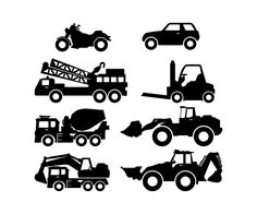 Trucks & Cars - Wall Vinyl. via Etsy.