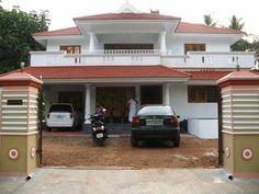 Unique House Plans, 3d House Plans, Modern House Plans, Village House Design, Kerala House Design, Bungalow House Design, Balcony Design, Roof Design, Chettinad House