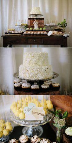 Super cute dessert table ideas from wedding Captured By: Heidi-o-Photo #weddingcake #weddingphotographer #weddingchicks ---> http://www.heidiophoto.com