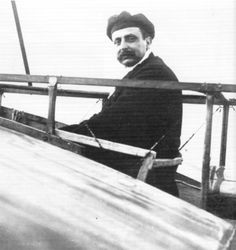 Louis Bleriot. French Aviator who was the first man to fly across the English channel in a monoplane he built 25 july, 1909.B 1872 D 1936.