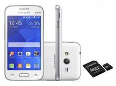 Smartphone Samsung Galaxy Ace 4 Lite Duos 3G - Dual Chip Android. 4.4 Câm. 3MP + Cartão 64GB