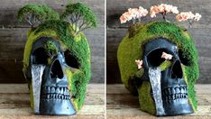 These Unique Bonsai Skulls Are Fascinating and Creepy -         Wish you could celebrate Halloween all year long? These unique bonsai skulls are just what you need. The handmade creations fuse the ancient t...