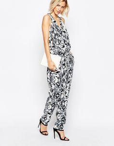 Image 1 ofGestuz Olive Printed Jumpsuit