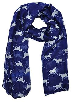 Ladies Women's Horse Print Scarf Wraps Shawl Soft Scarves #MissNicole