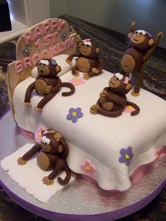 No More Monkeys Jumping on the Bed... by Touch of Pink Cake Designs by Monique, via Flickr