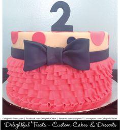Tutu and bow tie cake