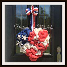 Patriotic Heart Flag Wreath, BR110