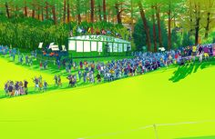 Image of The Masters 1st Hole Giclée Print by Nathan Fox