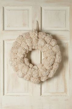 Anthropologie - Snowball Fete Wreath