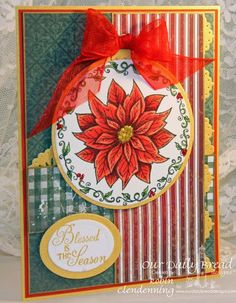 ODBDSLC216 Scripture Inspiration (Week 1)  Stamps - Our Daily Bread Designs Poinsettia Ornament, Chickadee Ornament, ODBD Custom Matting Circles Die, ODBD Custom Circle Ornaments Die, ODBD Custom Beautiful Borders Dies, ODBD Christmas Paper Collection 2013