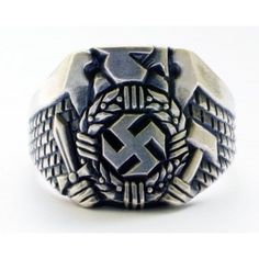 This ring from a dark period in time showcases the symbol Adolf Hitler chose to lead his army. It shows failure and non-purity as well as mistreatment and the ability to drain happiness. It also represents a historical event in history that created the world we know today. This event will forever be remembered as the Holocaust.