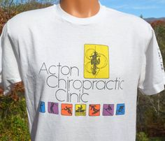 80s vintage t-shirt acton CHIROPRACTIC clinic health by skippyhaha